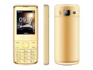 Điện thoại Masstel H860 2 sim viền mạ vàng
