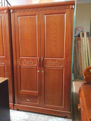 Đồ Gỗ Mạnh Tráng  tủ quần áo hai buồng gỗ sồi nga Miễn phí giao hàng bán kính 30km