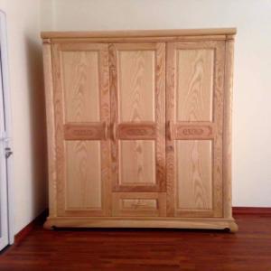 Tủ quần áo bằng gỗ ba buồng gỗ sồi nga  Đồ Gỗ Mạnh Tráng nhận đặt  làm tủ quần áo theo yêu cầu