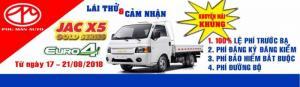 Xe tải JAC X99 Euro 4- jac 990kg / 990 KG -Thùng Kín+ Trả góp 80%+ Khuyến mãi khủng