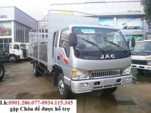 Bán Jac HFC 6T4 sản xuất 2018, màu xanh lam + JAC 6400kg/ 6.4 tấn- Trả góp 80%+ taydo xe tải