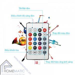 Đèn LED RGB tích hợp loa Bluetooth có remote RGB-BT7