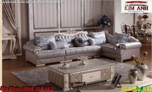 Thanh lý gấp các mẫu sofa cổ điển châu âu góc L thu hồi vốn, hàng chính hãng, chất lượng, bảo hành 4 năm