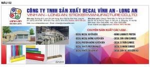 Chuyên sản xuất và cung cấp Decal trên toàn quốc