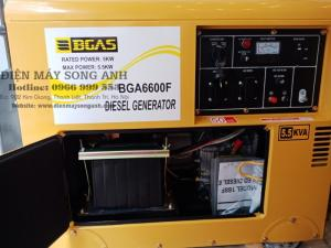 Máy Phát Điện Chạy Dầu Chống Ồn 6.5kw Nhật Bản - Bgas Bga 6600f