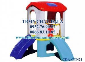 Cầu trượt một khối nhà cho trẻ giá rẻ