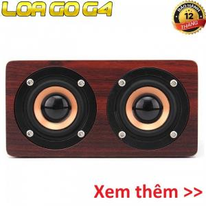 HIFI Super Bass Stereo speaker PKCB-G4 Loa Gỗ Bluetooth