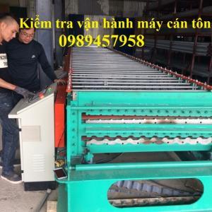 Chuyên sản xuất máy cán tôn 2 tầng 11 sóng và 13 sóng, máy chấn diềm, máy uống sóng ngói giá rẻ mới 100%