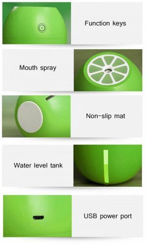 Máy phun sương tinh dầu Quả chanh kiêm đèn ngủ Lemon Humidifier - MHN chanh