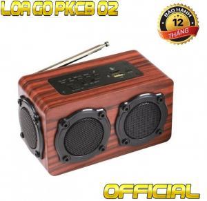 PKCB-02 Loa gỗ Bluetooth Super Bass HIFI Stereo speaker