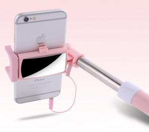 Gậy tự sướng iselfie có gương cho tự sướng selfie camera sau cực đỉnh selfie stick