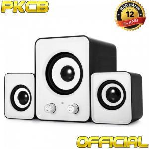 Loa vi tính giá rẻ PKCB-2N cho điện thoại, máy Tính, laptop bass có dây bộ 3 loa