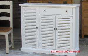 Tủ giày gỗ sơn trắng 1m2