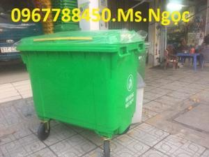Bán thùng rác nhựa 660 lít giá sỉ toàn quốc.