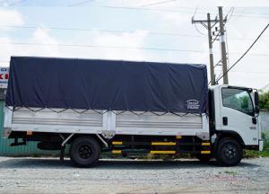 Xe tải Isuzu 3.5 tấn, thùng mui bạt, trả trước 80 triệu, giao xe ngay