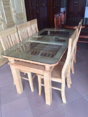 Bộ bàn ghế ăn 2 tầng gỗ sồi nga