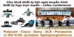 Dịch vụ cho thuê thiết bị hội nghị họp trực tuyến ( Video confercen ) trên toàn quốc