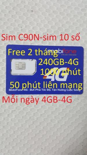 Sim 4G thần tài NOW Free 2 tháng (C90N)...