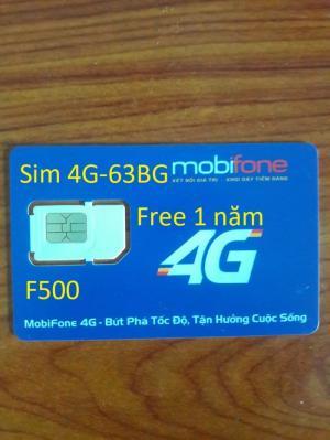 Sim 4G mobifone 63GB miễn phí 1 năm