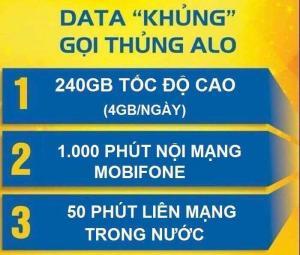 Sim 4G Mobifone có 120GB/tháng - Nghe gọi miễn phí