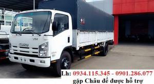 Cần bán xe tải Isuzu VM 8200kg - isuzu Vĩnh Phát 8T2 + Thùng Mui Bạt - Trả góp 80% + ISUZU Kiên Giang