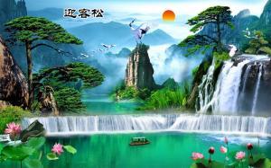 Tranh Gạch 3D Phong Cảnh Thu98