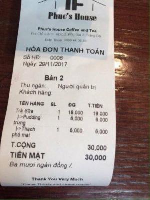 Phần mềm quản lý bán quán cafe,trà sữa, nhà hàng