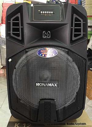 Loa kẹo kéo Ronamax K12, bass 3 tấc, công suất cực mạnh