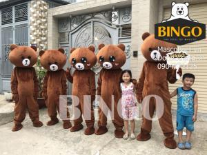 Cho thuê mascot gấu brown, gấu lầy tiktok, cho thuê mascot
