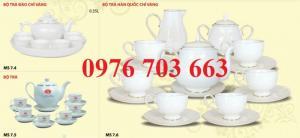 Alpha chuyên cung cấp bộ ấm trà sứ in logo giá rẻ