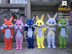 Mascot con thỏ,bán trang phục con thỏ tết trung thu