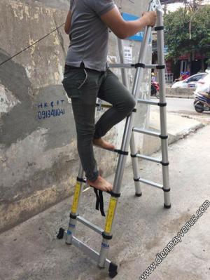 Thang nhôm rút xếp đơn đôi giá tốt tại Hà Nội