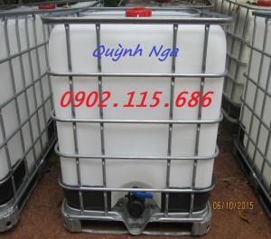 Thùng nhựa 1000l, bồn nhựa 1000lit cũ giá rẻ, thùng đựng nước 1000l