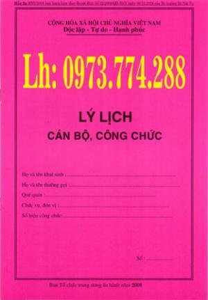 Bán nguyên bộ 3 bìa kẹp tài liệu hồ sơ cán bộ công chức viên chức