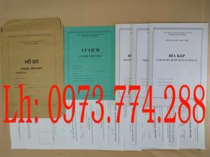Bán bộ hồ sơ cán bộ viên chức nhiều mẫu khác nhau