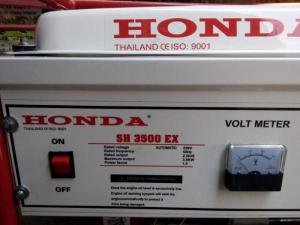 Máy phát điện honda SH 3500C 2.8kw_giật tay mẫu trắng