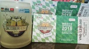 Vé lễ hội bia Đức Oktoberfest 2018 tại KS Nikko Saigon - Tối 19/9/2018 (Thứ 4)