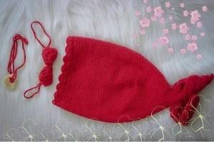 Set đồ len nàng tiên cá - Phụ kiện chụp ảnh baby