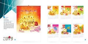 Chuyên cung cấp lịch treo tường 7 tờ lò xo cao cấp giá siêu rẻ