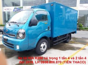 Bán xe tải thùng kín tải trọng 2 tấn 4, đời 2018, giao xe nhanh tại sài gòn.