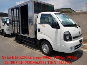 Bán xe tải KIA tại chi nhánh Thủ Đức tải trọng 1490kg, đời 2018.