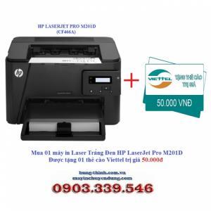 Máy In Laser HP LaserJet Pro M201D (CF466A), TẶNG THẺ CÀO 50K
