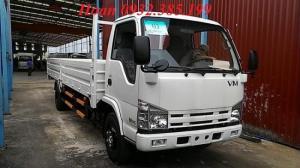 Xe tải isuzu Vĩnh Phát Nk490SL thùng lửng chiều dài thùng 6m2