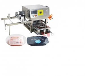 Máy dán màng hộp nhựa tự động, máy ép màng khay nhựa, máy dán khay hộp bánh kẹo, thực phẩm tự động