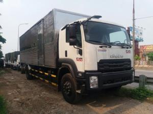 Xe tải isuzu 8t2 thùng kín inox - Trả trước 200 triệu