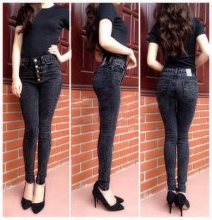 Quần jean nữ lưng cao 5 nút (QD140)