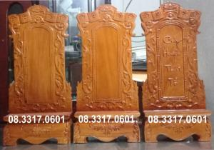 Bài vị thờ bằng gỗ, linh vị thờ bằng gỗ