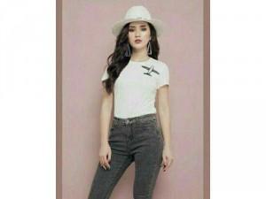 Quần jeans nữ đốm