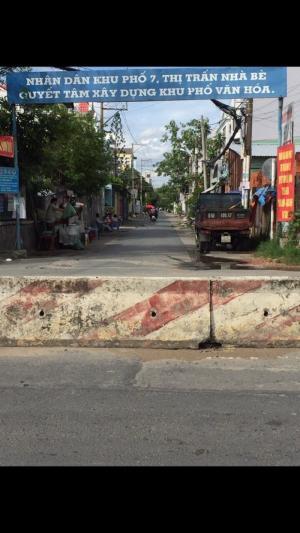 Bán đất mặt tiền hẻm 2295 đường Huỳnh Tấn Phát KP7 Thị Trấn Nhà Bè Tp Hồ Chí Minh