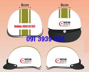 Xưởng sản xuất mũ bảo hiểm quận 6, mũ bảo hiểm in logo quảng cáo giá tốt, mũ bảo hiểm đạt chuẩn